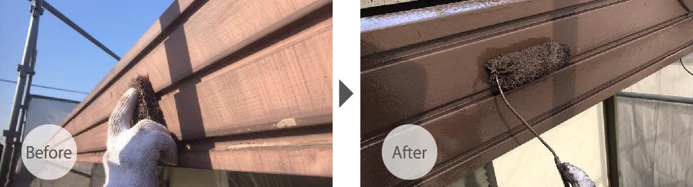 船橋市の屋根塗装工事のビフォーアフター