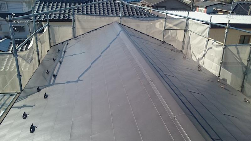 大屋根の葺き替え工事施工後の様子