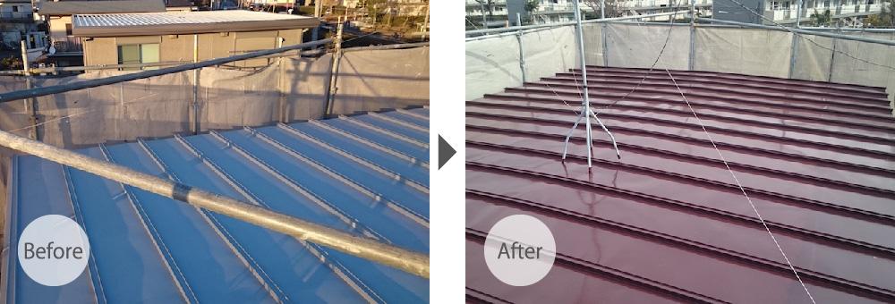 東京都北区の屋根塗装工事
