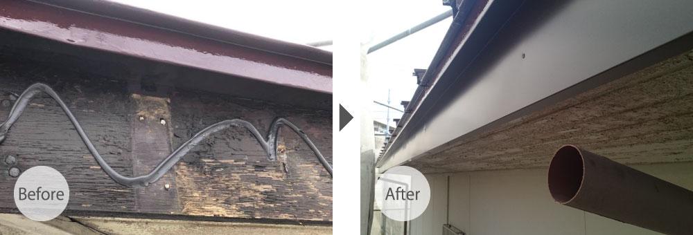 東京都北区破風板の塗装工事