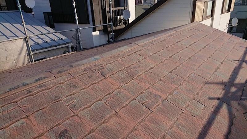 葛飾区の屋根カバー工法の施工前の様子