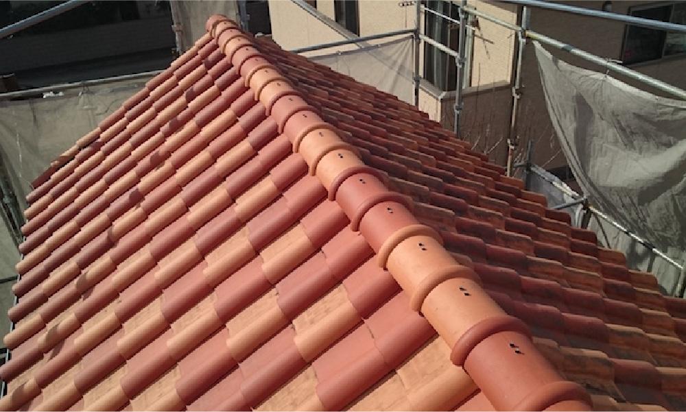 越谷市の屋根の葺き直し工事