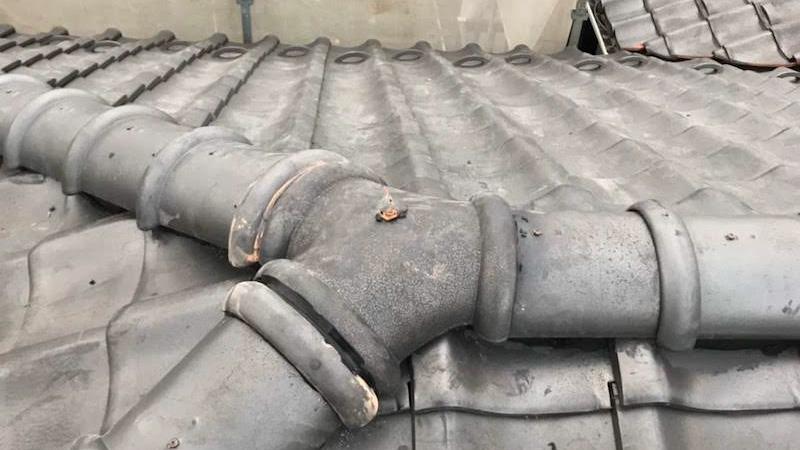 屋根の積み替え工事の施工後の様子