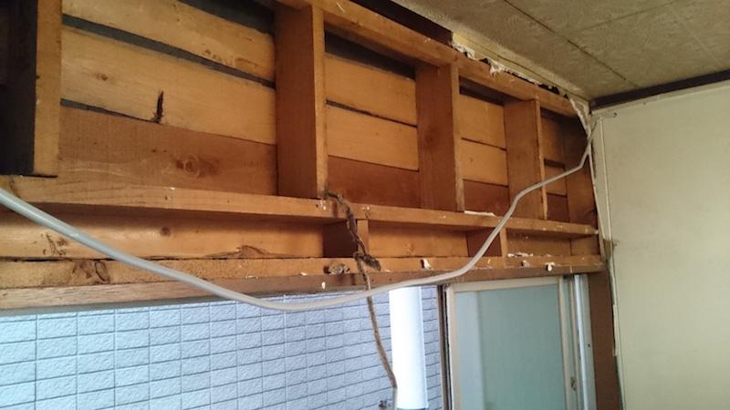 耐震リフォームの既存の壁の撤去