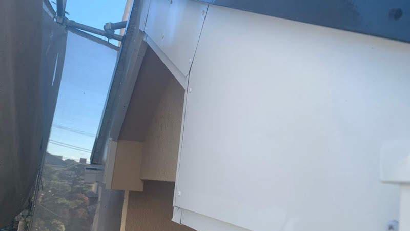 破風板金の塗装