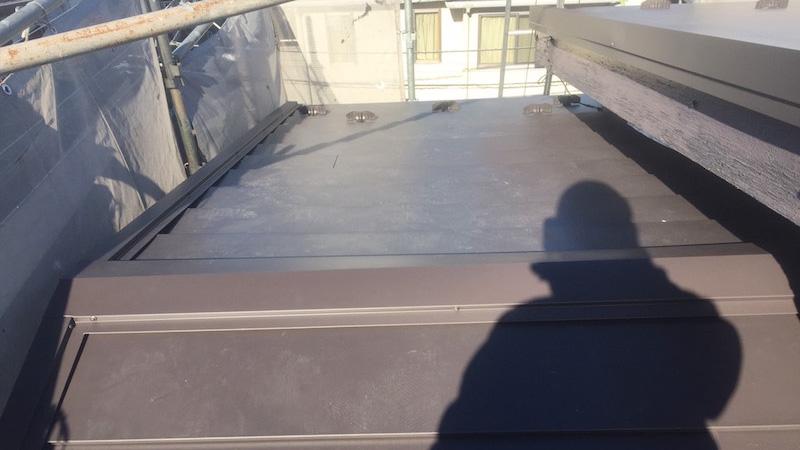 屋根カバー工法後の状態