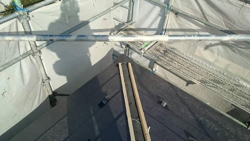 棟下地の施工