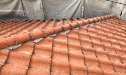 板橋区の棟の積み替え工事