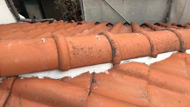 板橋区の棟の積み替え工事のビフォーアフター
