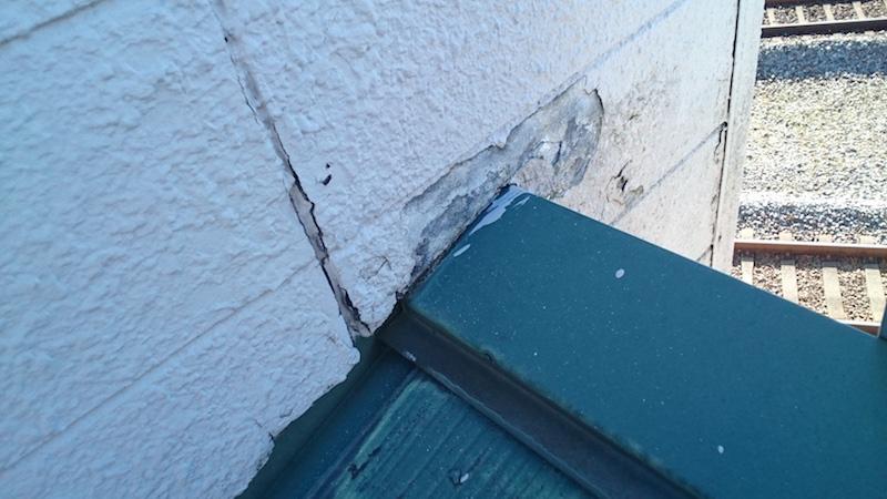 パラッペットの外壁材の剥がれ