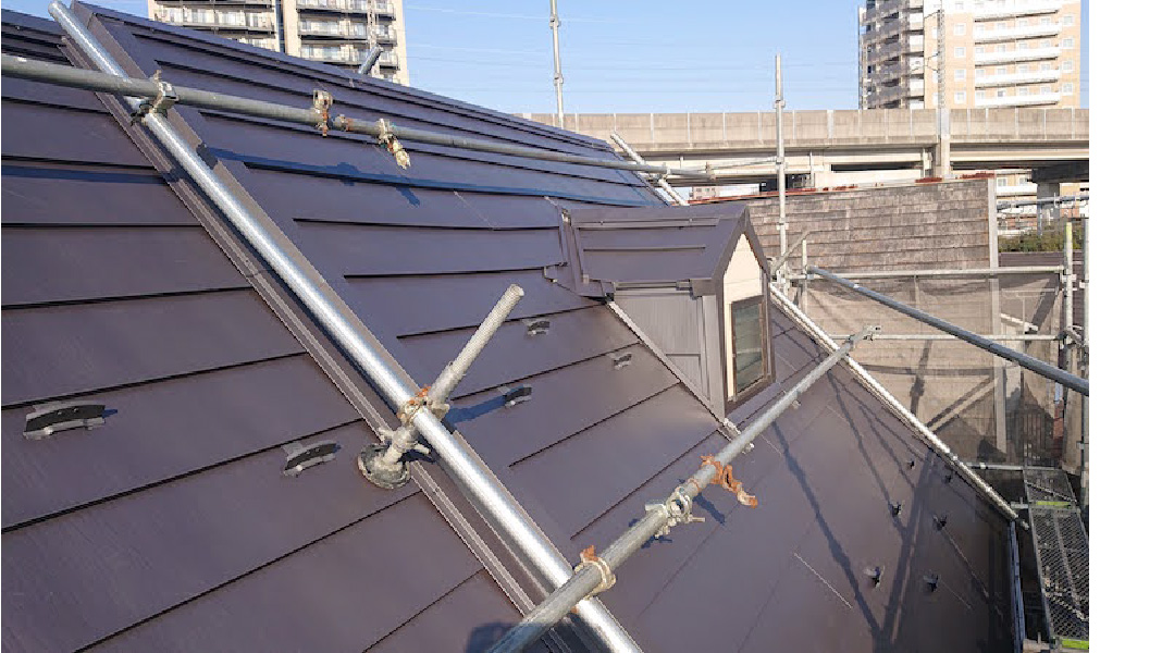 足立区のスレート屋根のリフォーム