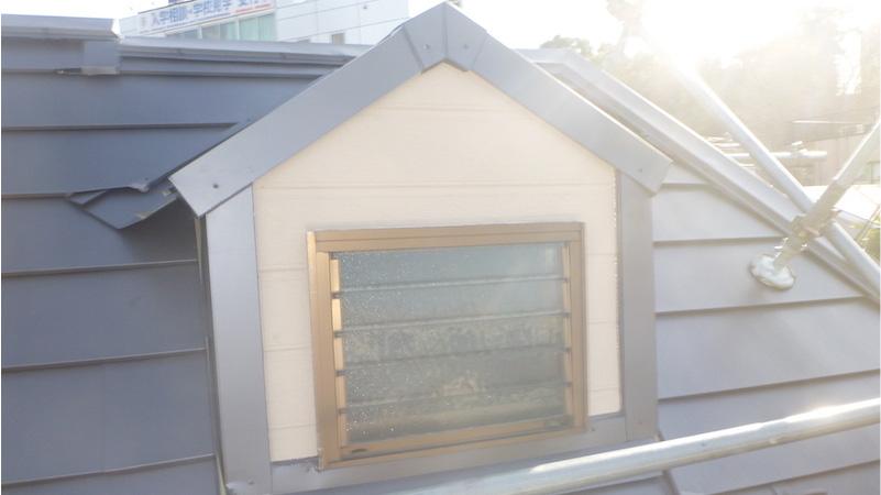 屋根カバー工法施工後のドーマー