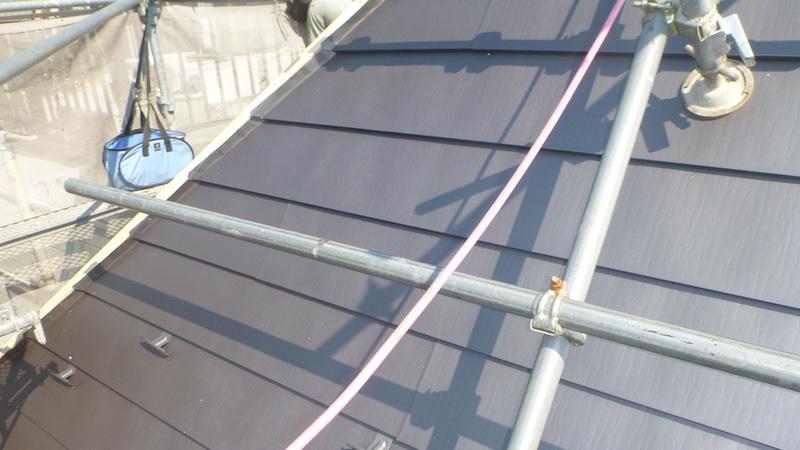 ガルバリウム鋼板本体の施工