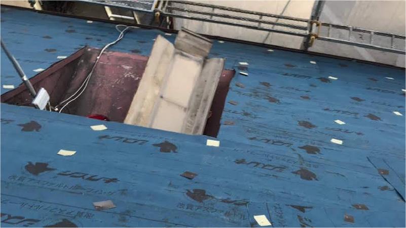 ルーフィング(防水シート)の施工