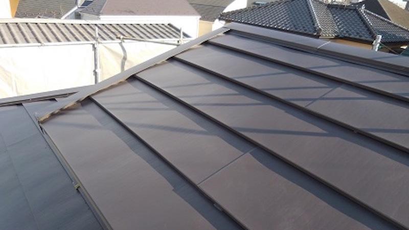 屋根カバー工法の施工後の様子