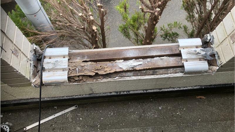 笠木の解体