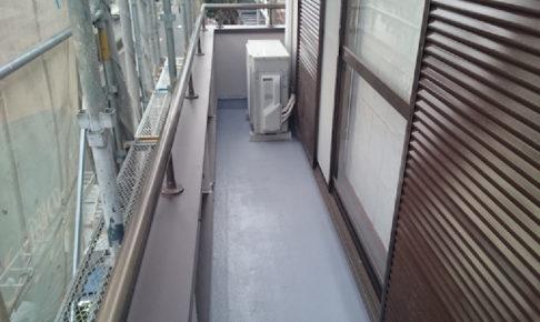 川崎市のベランダ雨漏り修理