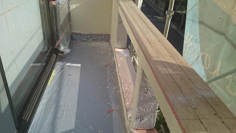 ベランダの防水層の補修