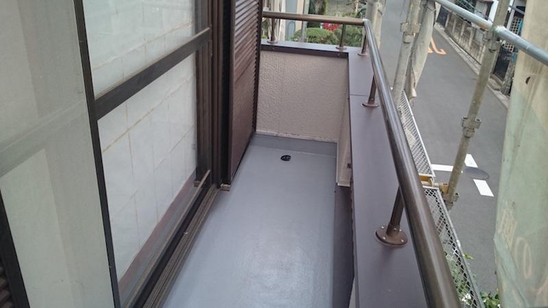 施工後の防水層の様子
