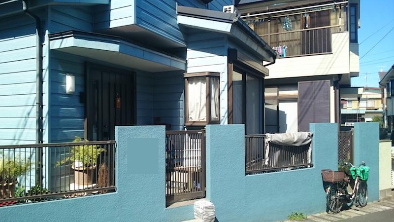 戸田市の外壁雨漏り修理の施工前の様子