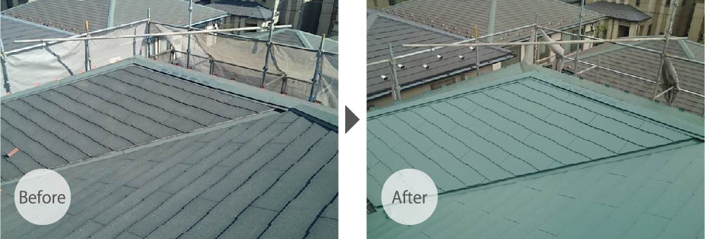 川崎市の屋根塗装のビフォーアフター