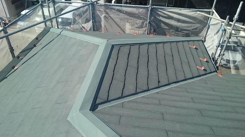 高圧洗浄後のスレート屋根