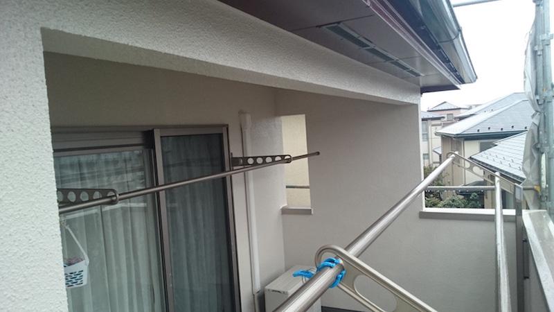 外壁塗装の上塗り後の様子