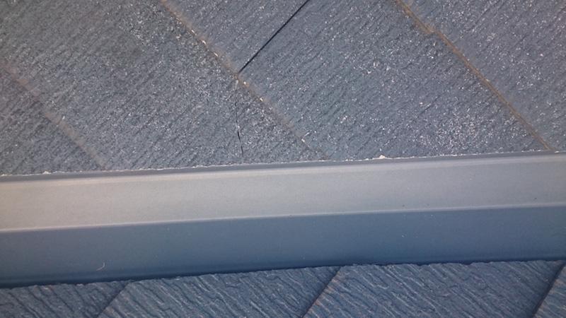 スレート屋根のひび割れ