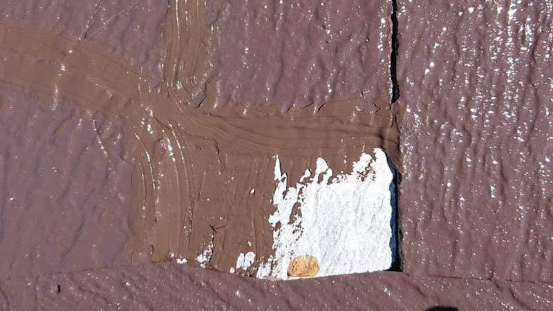 スレート瓦の欠落の補修