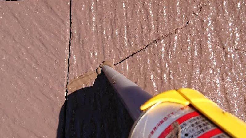 屋根塗装のひび割れの補修