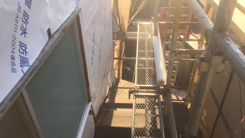 防温浸透シートの施工