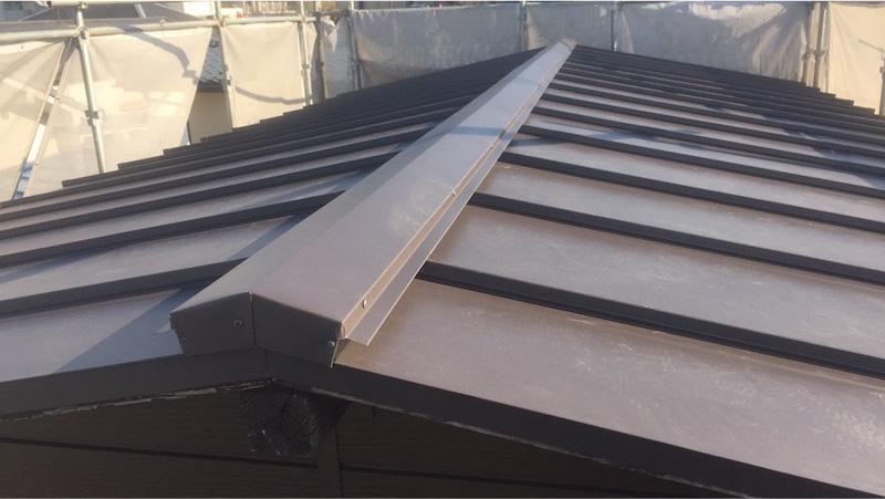 大屋根の葺き替え工事後