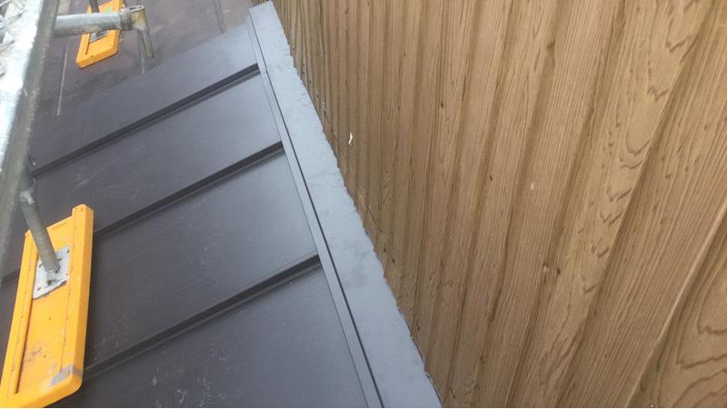 下屋根の葺き替え工事後の写真