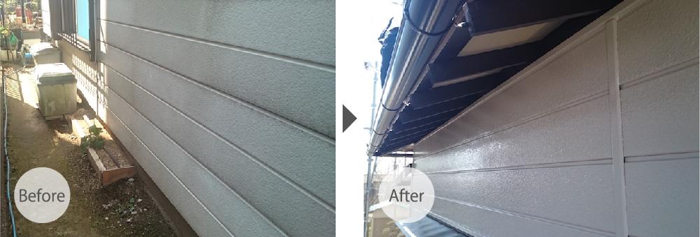 春日部市の屋根葺き替え工事のビフォーアフター