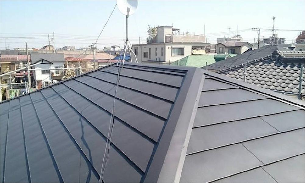 台東区の屋根葺き替え工事