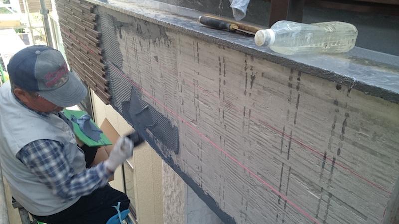 モルタル外壁の撤去