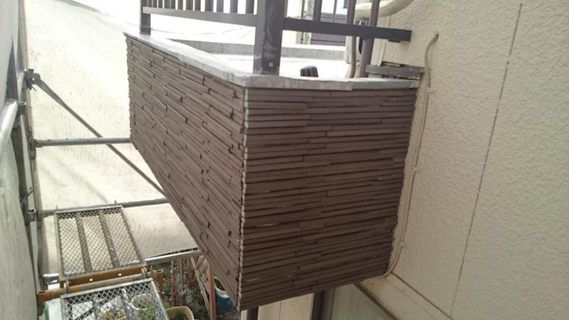 外壁タイルの施工