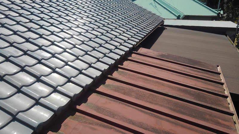 経年劣化で錆が発生したトタン屋根