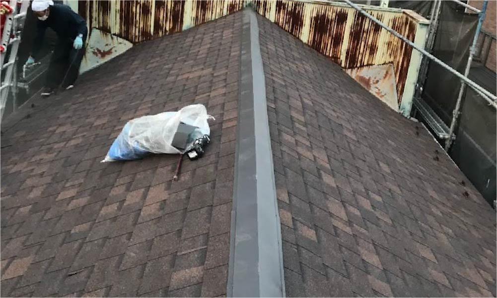 杉並区の屋根葺き替え工事