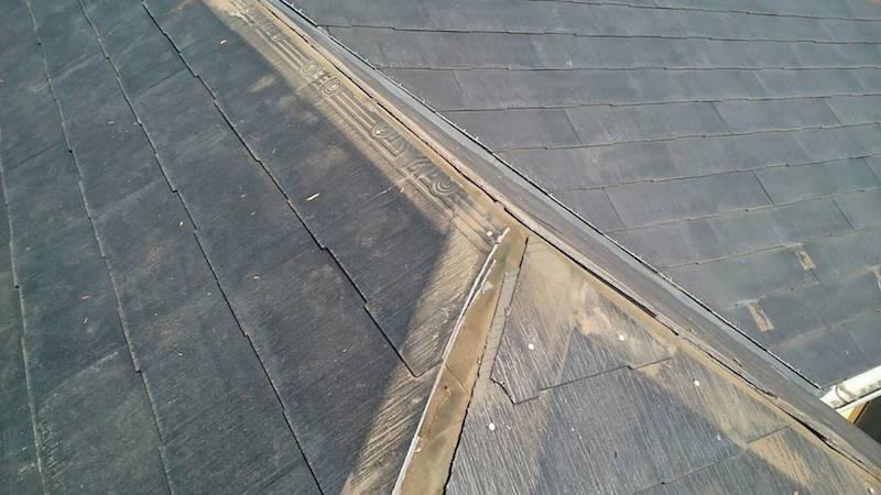 カバー工法の棟板金の撤去