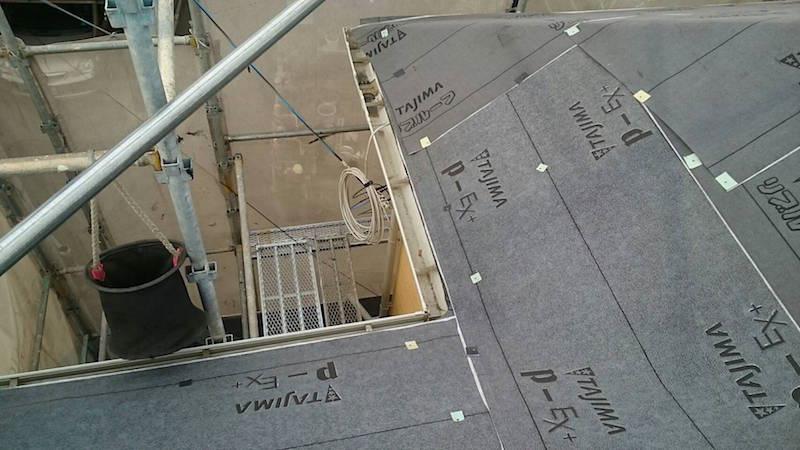 屋根カバー工法のスターターの施工