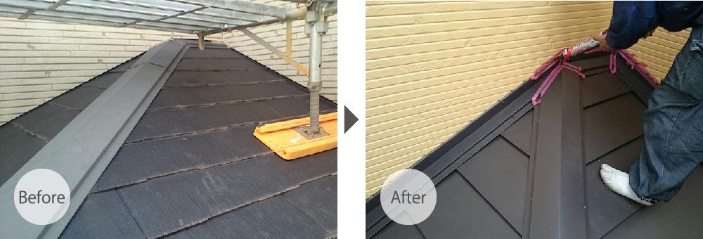 調布市の下屋根のカバー工法