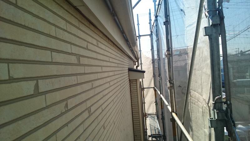 スレート屋根の高圧洗浄後の様子