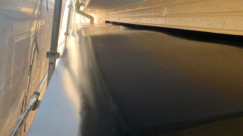 霧避けの塗装後の様子