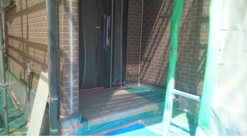 外壁塗装の施工前の様子