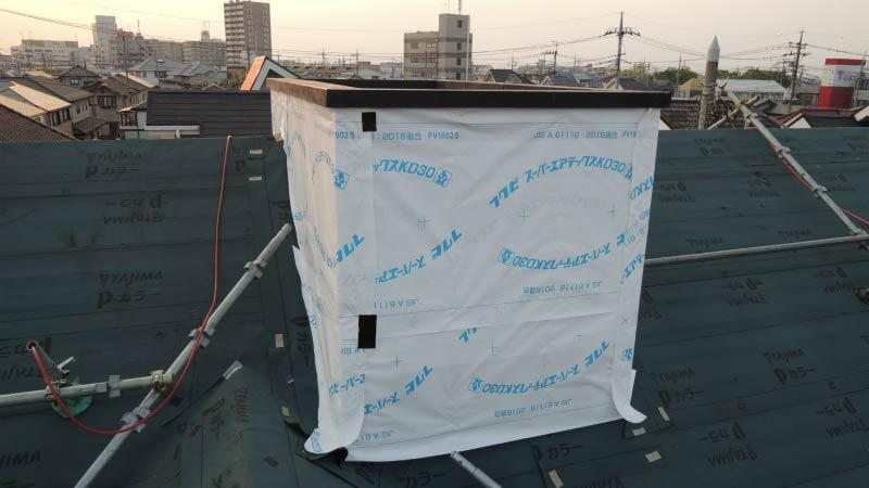 防水浸透シートの施工