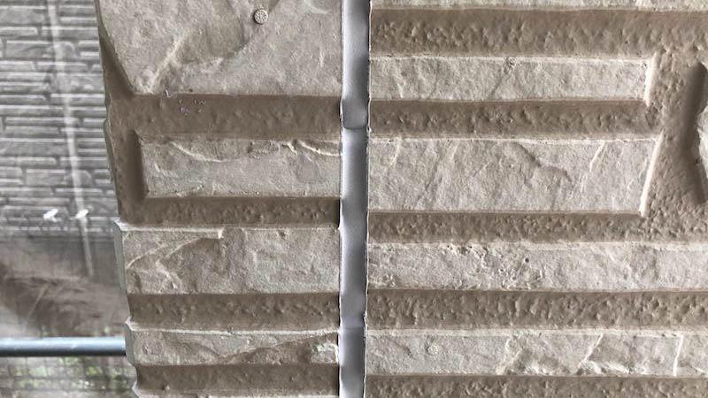 外壁のコーキング交換工事の完了