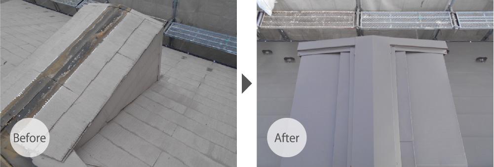 三鷹市の屋根カバー工法のビフォーアフター