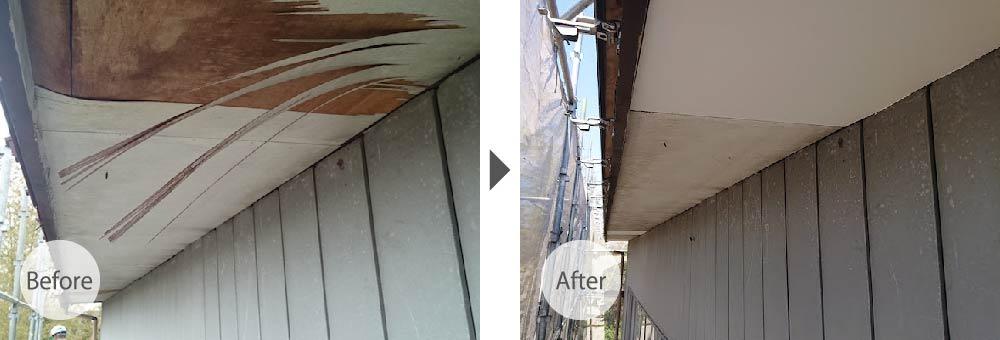 野田市の屋根葺き替え工事のビフォーアフター