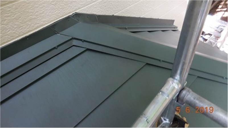 ガルバリウム鋼板の施工後の様子